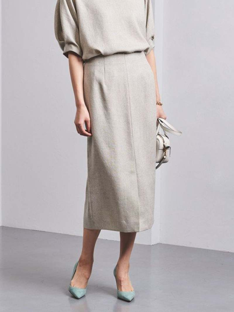 [Rakuten Fashion]UBCBTA/Pフロントスリットタイトスカート† UNITED ARROWS ユナイテッドアローズ スカート タイトスカート ホワイト ブラウン ブルー【送料無料】