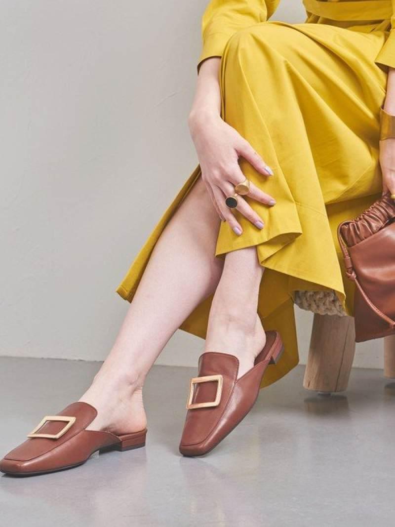 [Rakuten Fashion]【SALE/50%OFF】UWFMスクエアフラットミュール UNITED ARROWS ユナイテッドアローズ シューズ サンダル/ミュール ブラウン ブラック【RBA_E】【送料無料】