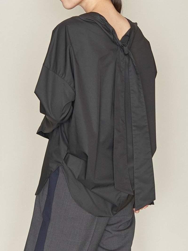 [Rakuten Fashion]<ASTRAET(アストラット)>Vネックバックリボンブラウス2 ASTRAET ユナイテッドアローズ シャツ/ブラウス シャツ/ブラウスその他 ブラック ホワイト【送料無料】