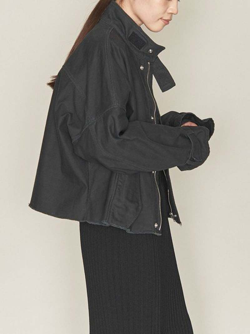 [Rakuten Fashion]【SALE/60%OFF】<ASTRAET(アストラット)>スタンドカラーミリタリーブルゾン† ASTRAET ユナイテッドアローズ コート/ジャケット ミリタリージャケット ブラック カーキ【RBA_E】【送料無料】