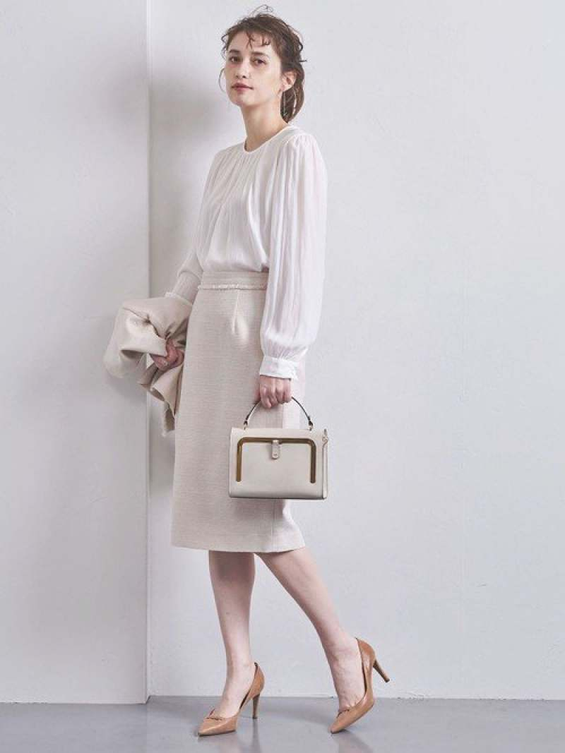 [Rakuten Fashion]【SALE/30%OFF】UPCSラメツイードタイトスカート UNITED ARROWS ユナイテッドアローズ スカート タイトスカート ホワイト ネイビー【RBA_E】【送料無料】