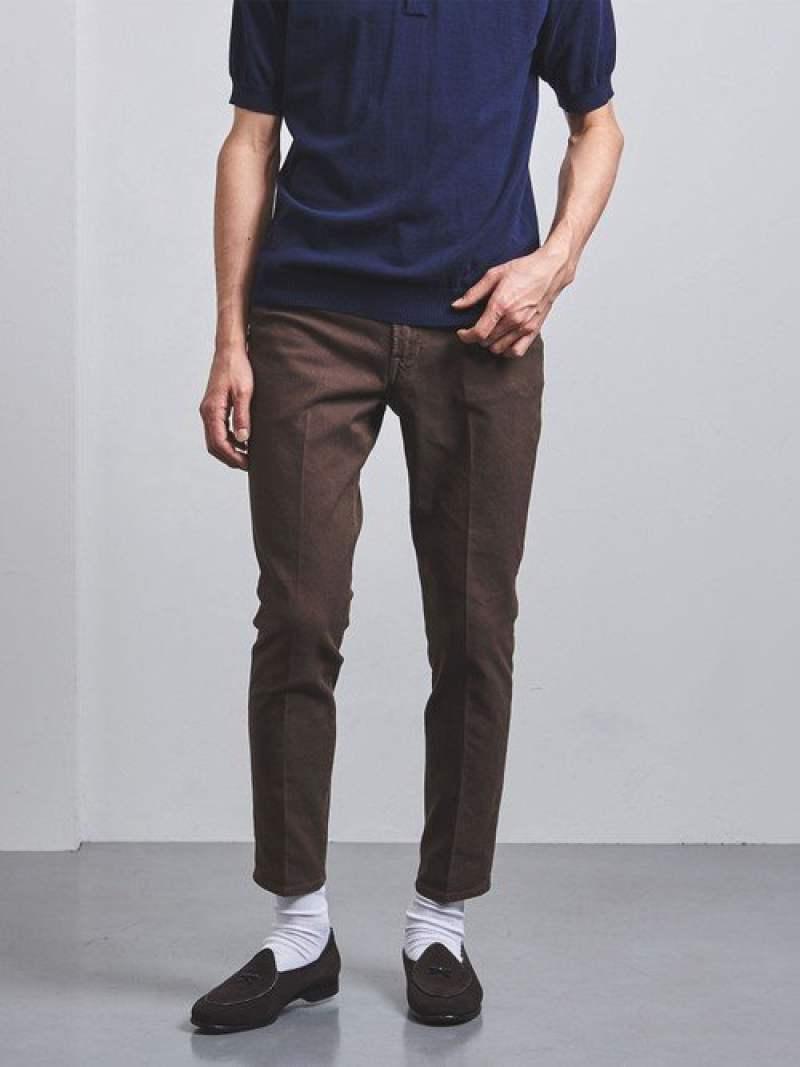[Rakuten Fashion]<SOVEREIGN(ソブリン)>ダブルツイルクリース5ポケット UNITED ARROWS ユナイテッドアローズ パンツ/ジーンズ パンツその他 ブラウン ブラック ベージュ【送料無料】