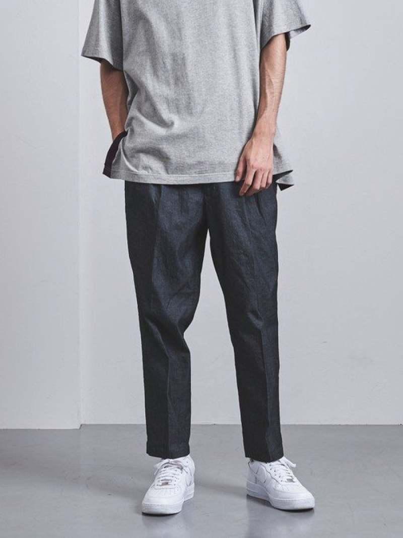 [Rakuten Fashion]<ENROUTE(アンルート)>セルロースコットン3プリーツバックゴム EN ROUTE ユナイテッドアローズ パンツ/ジーンズ フルレングス ネイビー グレー【送料無料】