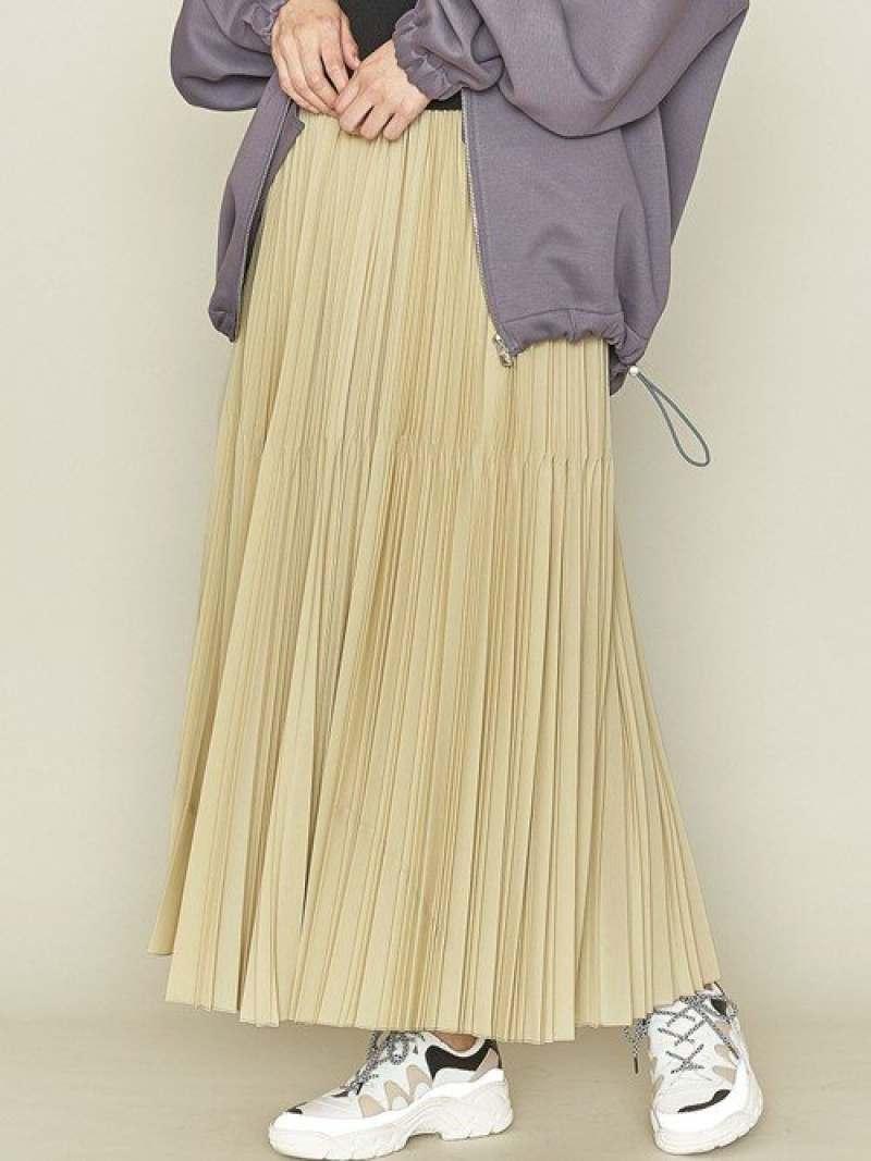 [Rakuten Fashion]<ASTRAET(アストラット)>マキシ丈 プリーツスカート ASTRAET ユナイテッドアローズ スカート ロングスカート ベージュ グレー パープル【送料無料】