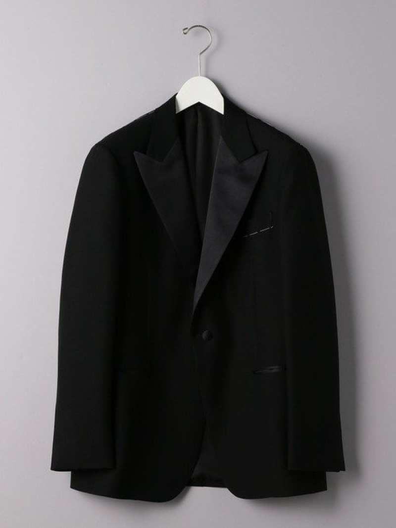 [Rakuten Fashion]<UNITEDARROWS>ブラックピークドラペル1Bタキシードジャケット UNITED ARROWS ユナイテッドアローズ コート/ジャケット テーラードジャケット ブラック【送料無料】