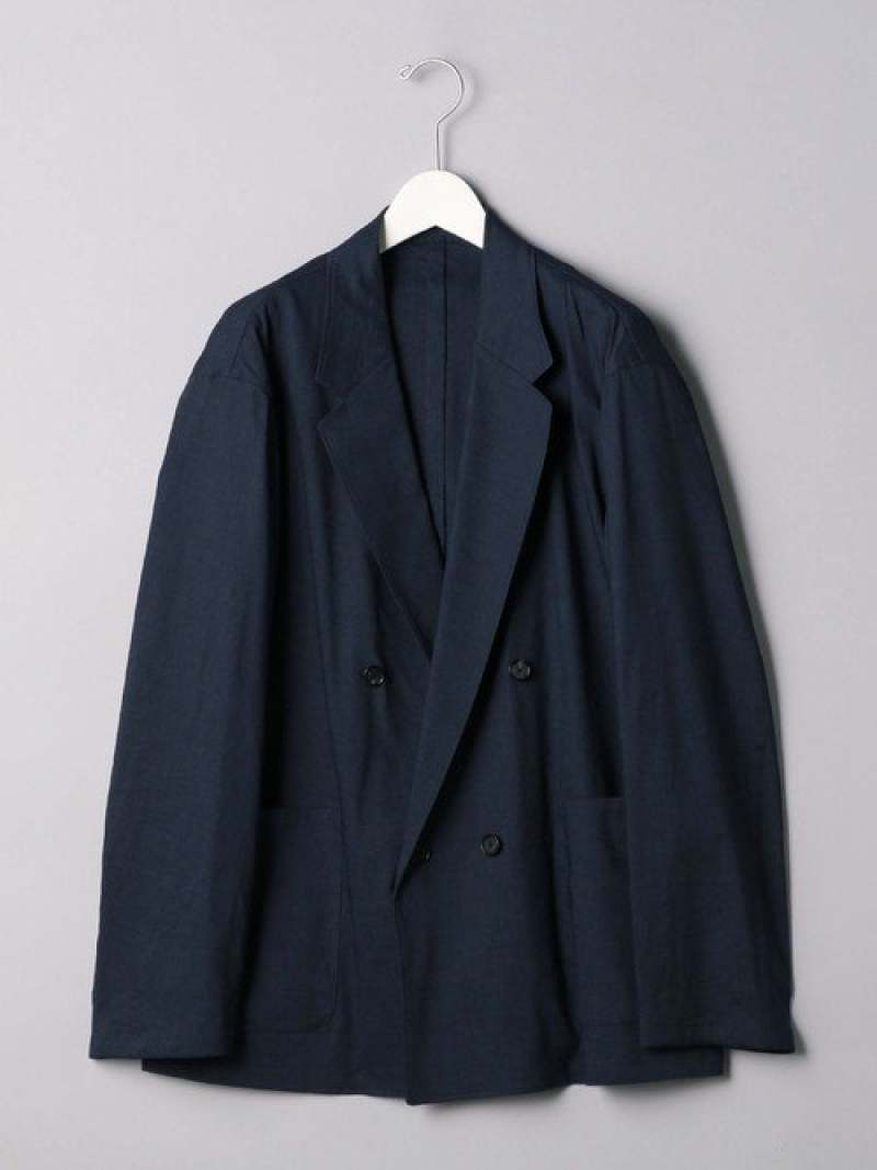 [Rakuten Fashion]<UNITEDARROWS>4Bダブルブレストジャケット UNITED ARROWS ユナイテッドアローズ コート/ジャケット テーラードジャケット ネイビー ブラック【送料無料】