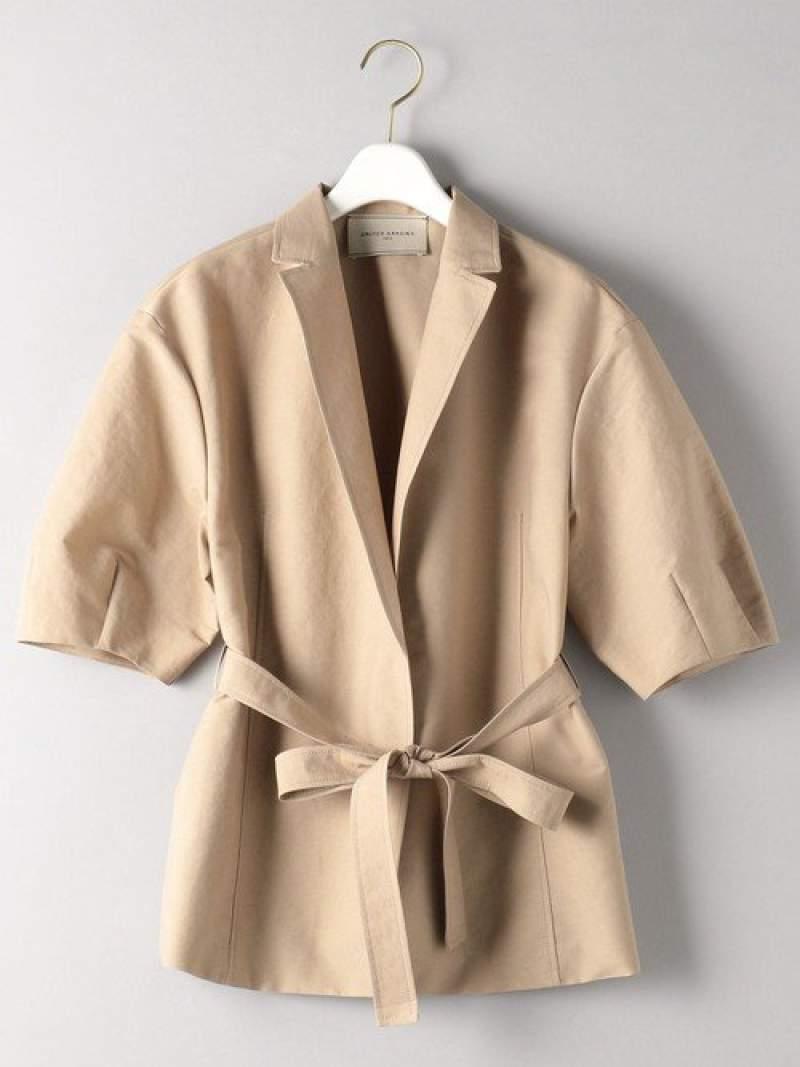 [Rakuten Fashion]UBCBC/P/LIショートスリーブジャケット UNITED ARROWS ユナイテッドアローズ コート/ジャケット テーラードジャケット ベージュ ブラック【送料無料】