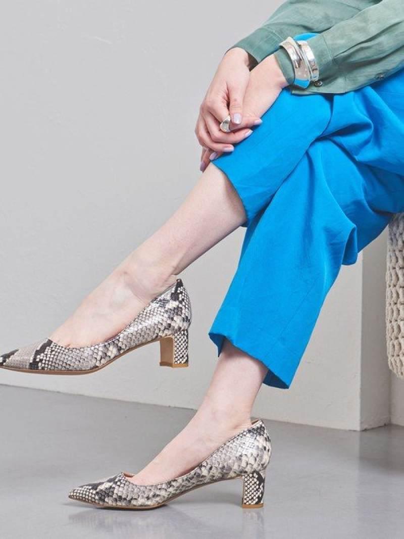 [Rakuten Fashion]UBCBポインテッドソフトチャンキーパンプス UNITED ARROWS ユナイテッドアローズ シューズ パンプス ブラック グレー【送料無料】