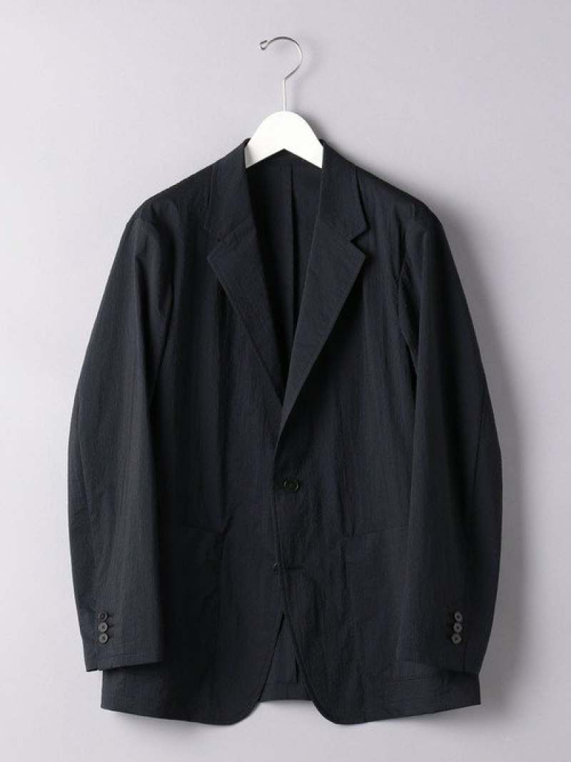 [Rakuten Fashion]<UNITEDARROWS>シアサッカージャケット UNITED ARROWS ユナイテッドアローズ コート/ジャケット テーラードジャケット ネイビー グレー【送料無料】