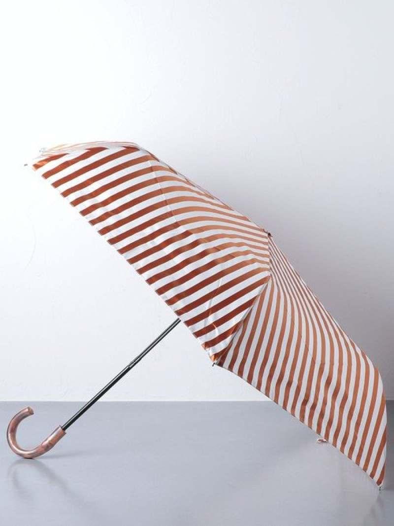 [Rakuten Fashion]<Pradelle(プラデル)>ストライプ折りたたみ晴雨兼用傘 UNITED ARROWS ユナイテッドアローズ ファッショングッズ 日傘/折りたたみ傘 ベージュ ネイビー【送料無料】