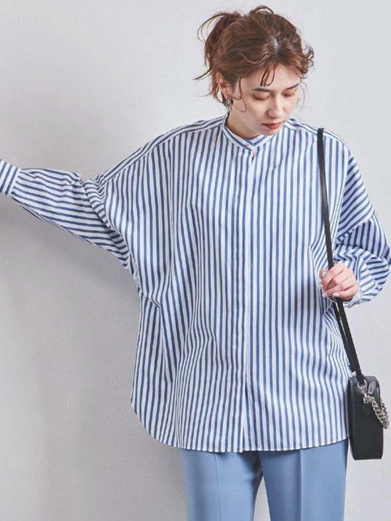 [Rakuten Fashion]【SALE/50%OFF】UWMSCストライプビッグシャツ UNITED ARROWS ユナイテッドアローズ シャツ/ブラウス 長袖シャツ ホワイト ブルー【RBA_E】【送料無料】