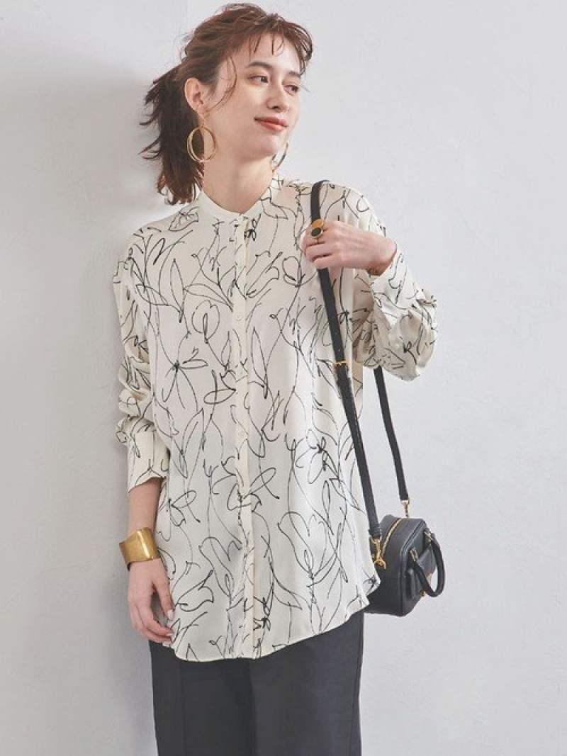 [Rakuten Fashion]UWMSCフラワーバンドカラーシャツ UNITED ARROWS ユナイテッドアローズ シャツ/ブラウス 長袖シャツ ホワイト ブラック【送料無料】