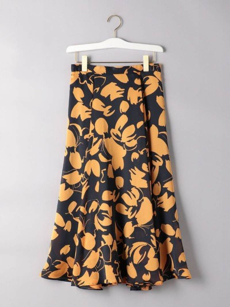[Rakuten Fashion]UBCSビッグフラワーフレアスカート2 UNITED ARROWS ユナイテッドアローズ スカート フレアスカート オレンジ ブルー【送料無料】