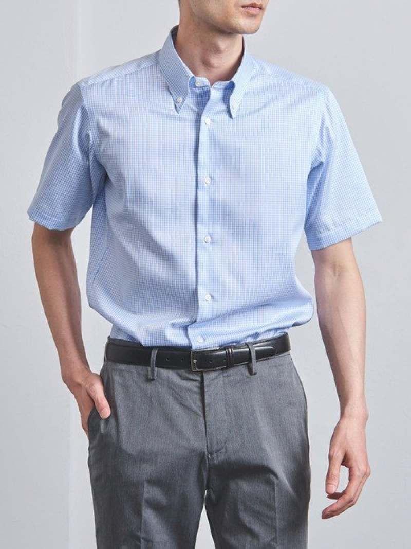 [Rakuten Fashion]<SOVEREIGN(ソブリン)>イージーケアギンガムチェックボタンダウン UNITED ARROWS ユナイテッドアローズ シャツ/ブラウス 長袖シャツ ブルー【送料無料】