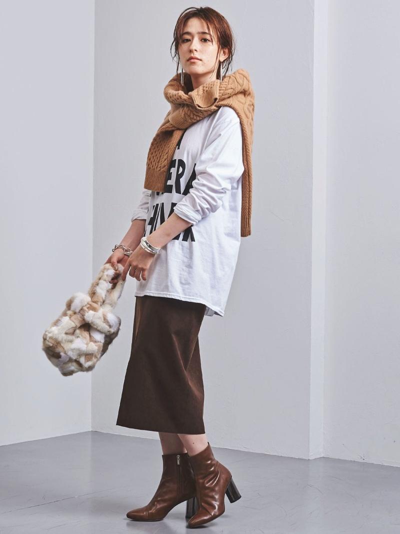 [Rakuten BRAND AVENUE]UWCSフェイクスエードタイトスカート† UNITED ARROWS ユナイテッドアローズ スカート【先行予約】*【送料無料】