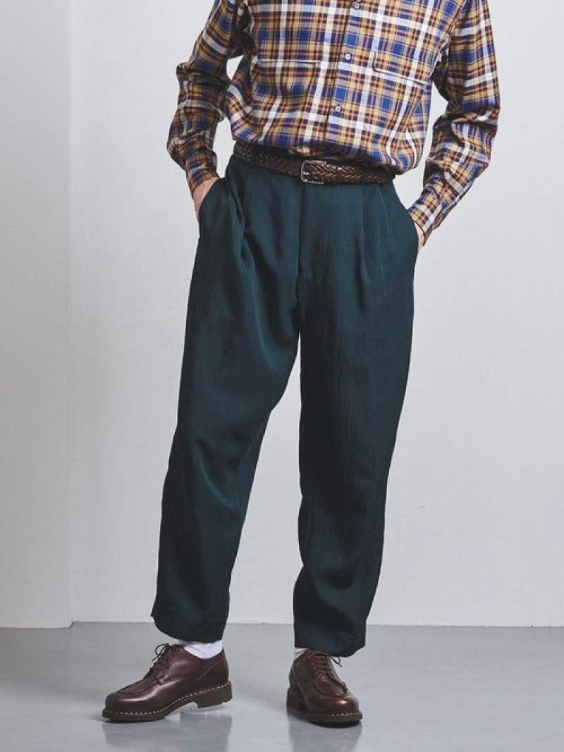 [Rakuten Fashion]【SALE/40%OFF】<District(ディストリクト)>レーヨンポリエステルウールナイロンエッグ1プリーツ UNITED ARROWS ユナイテッドアローズ パンツ/ジーンズ フルレングス グリーン【RBA_E】【送料無料】