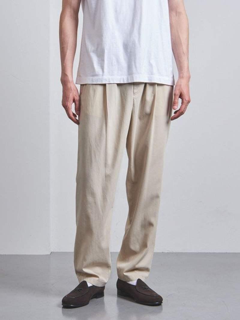 [Rakuten Fashion]<UNITEDARROWS>GAB/BOILイージーパンツ UNITED ARROWS ユナイテッドアローズ パンツ/ジーンズ フルレングス ベージュ ブラック【送料無料】