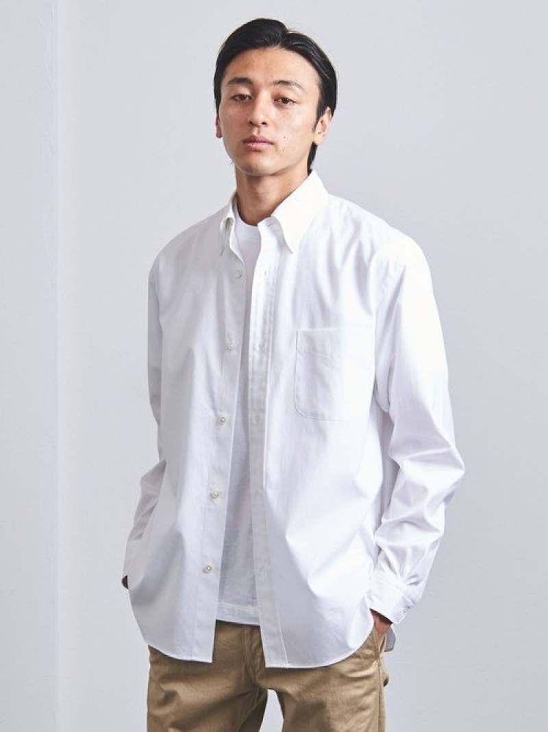 [Rakuten Fashion]<UNITEDARROWS>フィンクスコットンオックスフォードボタンダウン UNITED ARROWS ユナイテッドアローズ シャツ/ブラウス 長袖シャツ ホワイト グレー【送料無料】