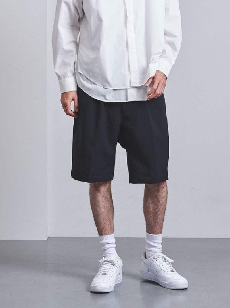 [Rakuten Fashion]<ENROUTE(アンルート)>ポリエステルトロサルエルショーツ EN ROUTE ユナイテッドアローズ パンツ/ジーンズ ショートパンツ ネイビー ブラック【送料無料】