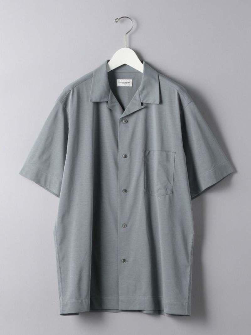 [Rakuten Fashion]<UNITEDARROWS>スムースオープンカラーシャツ UNITED ARROWS ユナイテッドアローズ シャツ/ブラウス 半袖シャツ ブルー ブラック ホワイト カーキ【送料無料】