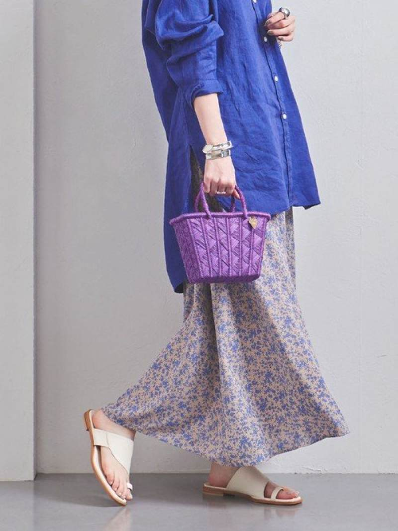 [Rakuten Fashion]UWCSフラワーフレアスカート UNITED ARROWS ユナイテッドアローズ スカート ロングスカート ベージュ ブラック【送料無料】