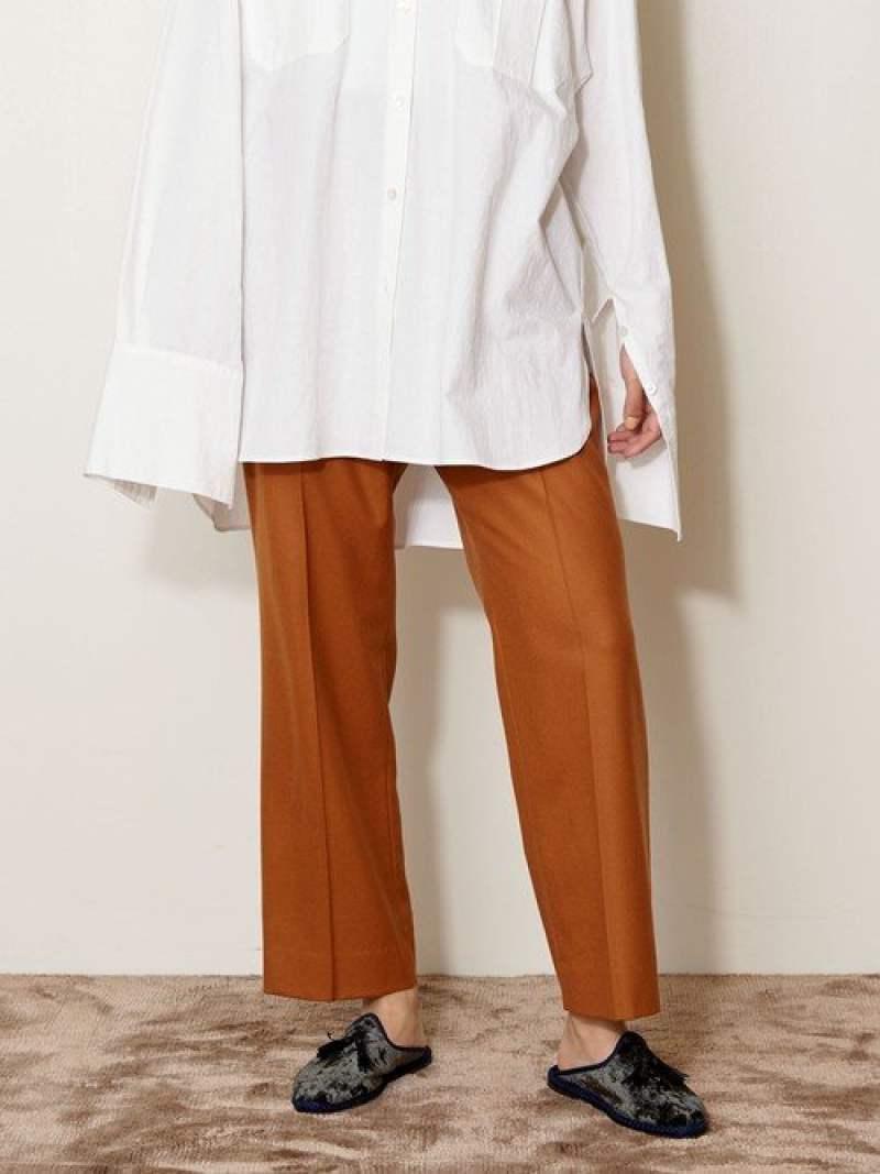 [Rakuten Fashion]<AEWEN MATOPH(イウエン マトフ)>W/P ステッチ パンツ AEWEN MATOPH ユナイテッドアローズ パンツ/ジーンズ フルレングス ブラウン ブラック ベージュ【送料無料】