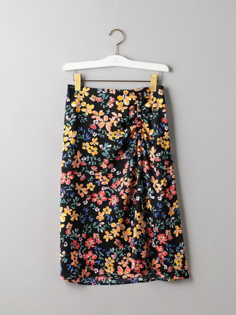 [Rakuten BRAND AVENUE]UBCS フラワープリント アシンメトリースカート UNITED ARROWS ユナイテッドアローズ スカート【送料無料】
