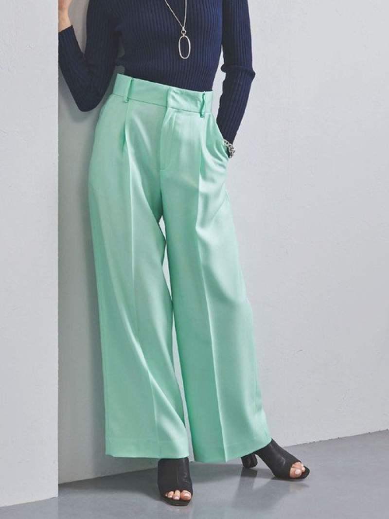 [Rakuten Fashion]【SALE/40%OFF】UBCBNEO-STカラーワイドパンツ UNITED ARROWS ユナイテッドアローズ パンツ/ジーンズ フルレングス グリーン イエロー【RBA_E】【送料無料】