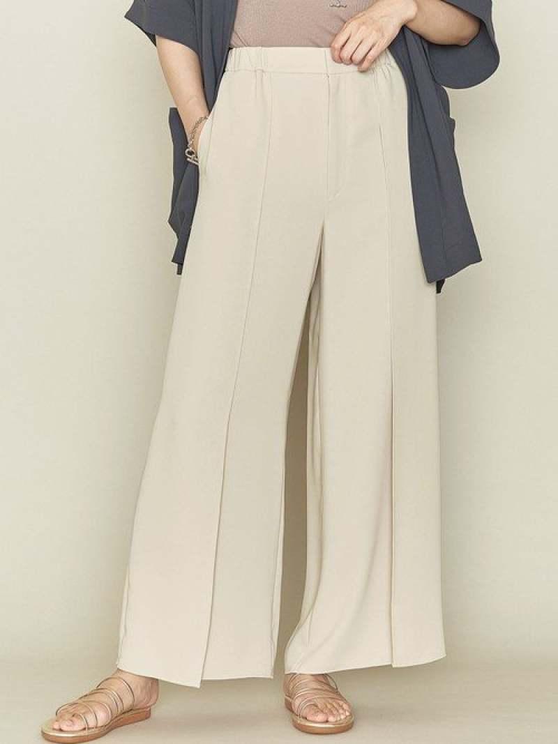 [Rakuten Fashion]<ASTRAET(アストラット)>バックゴムイージーワイドパンツ ASTRAET ユナイテッドアローズ パンツ/ジーンズ フルレングス ホワイト ブラウン【送料無料】