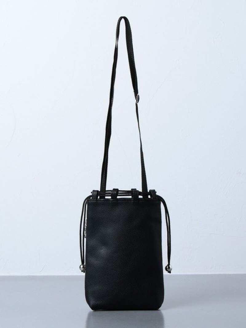 [Rakuten Fashion]<yorozu(ヨロズ)>巾着バッグS UNITED ARROWS ユナイテッドアローズ バッグ バッグその他 ブラック【送料無料】
