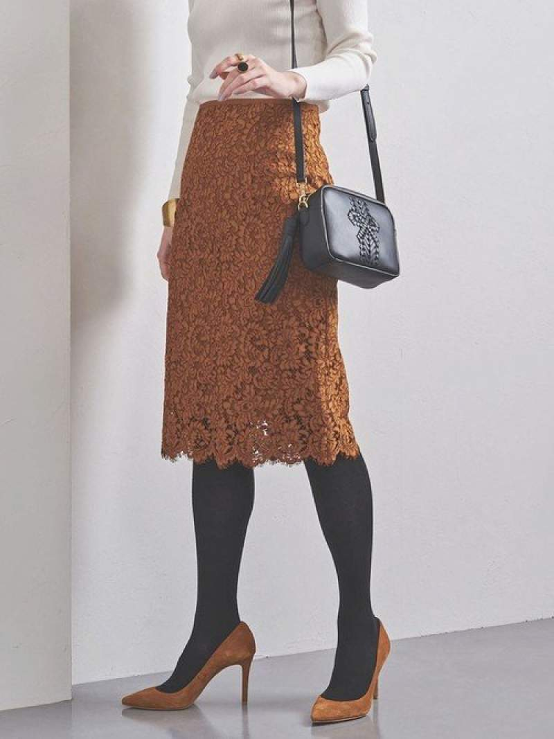 [Rakuten BRAND AVENUE]UBCSレースタイトスカート19AW UNITED ARROWS ユナイテッドアローズ スカート【送料無料】