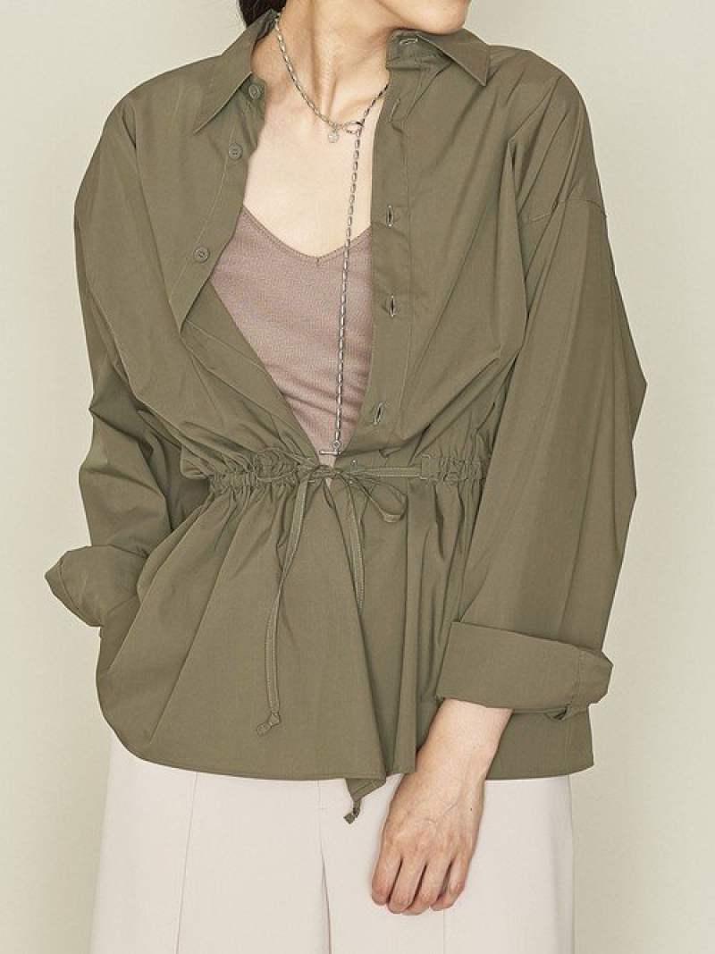 [Rakuten Fashion]<ASTRAET(アストラット)>CO/PEウエストドローシャツ ASTRAET ユナイテッドアローズ シャツ/ブラウス シャツ/ブラウスその他 カーキ グレー【送料無料】
