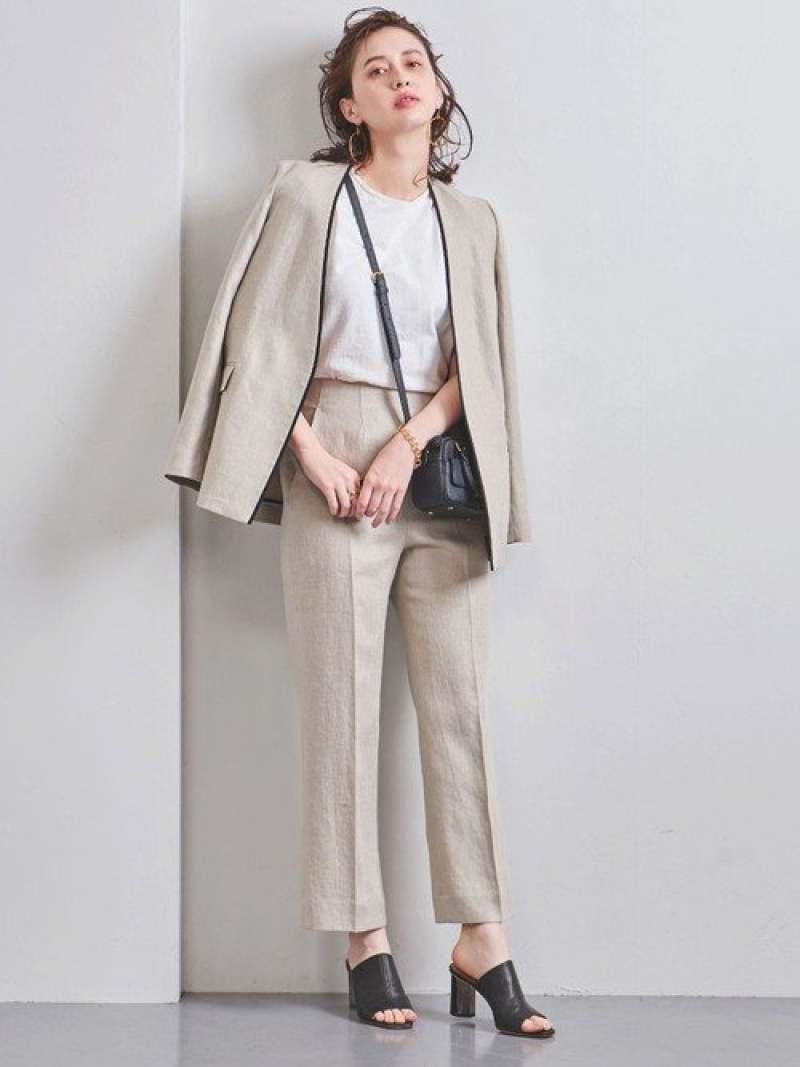 [Rakuten Fashion]UBCBL/TWLストレートパンツ† UNITED ARROWS ユナイテッドアローズ パンツ/ジーンズ フルレングス ホワイト ブラック【先行予約】*【送料無料】