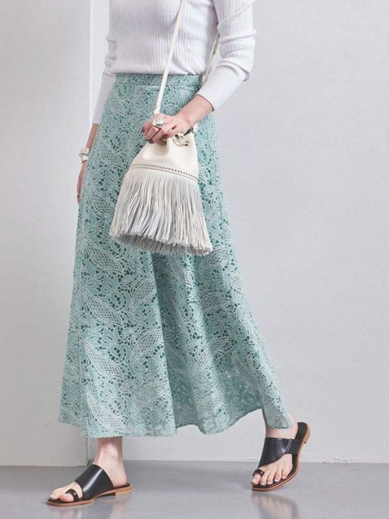 [Rakuten Fashion]【SALE/40%OFF】UWFMレースロングスカート UNITED ARROWS ユナイテッドアローズ スカート ロングスカート グリーン ホワイト【RBA_E】【送料無料】