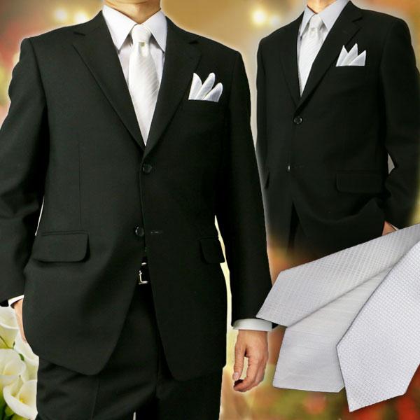 ネクタイポケットチーフセットメンズ白シルク絹結婚式慶事用冠婚葬祭フォーマル