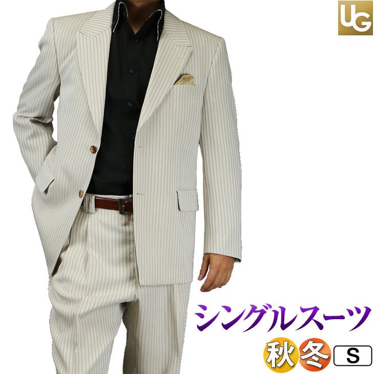 【S】【サイズ限定】スーツ メンズ シングル2ボタン 黒シャドーストライプ ゆったりシルエット 日本製 JILL PREMIUM ジルプレミアム 秋冬春 結婚式 パーティー111161-1【送料無料】