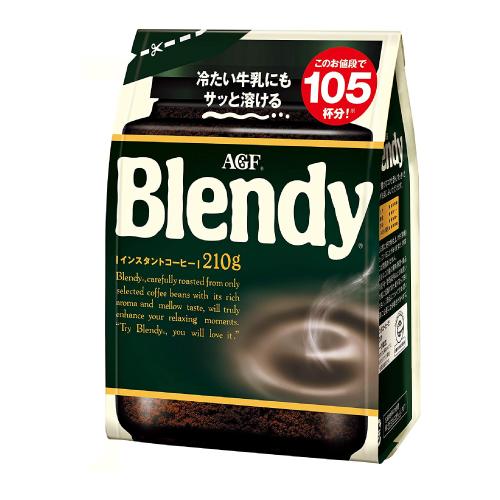 まろやかで豊かなコクと香り冷たい水や牛乳にもおいしく溶けます AGF 記念日 Blendy インスタントコーヒー袋 ブレンディ 210g×12袋セット いつでも送料無料