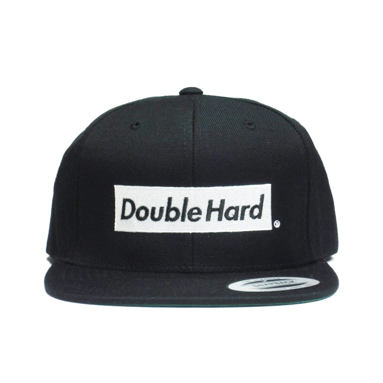【DOUBLE HARD】(ダブルハード)  BOX LOGO SNAPBACK(BLACK/WHITE)