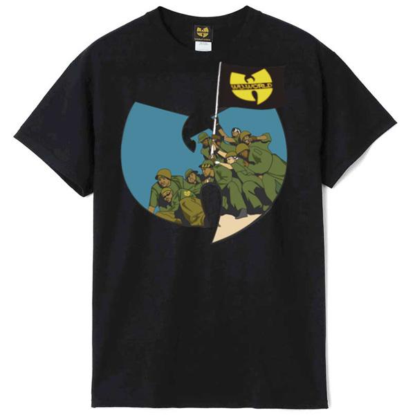 【WU-WORLD(ウータン・クラン)】WU SOLDIER TEE(BLACK) WU-TANG CLAN IRON FLAG 90's HIP HOP RAP TEES ラップTシャツ