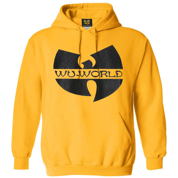 【WU-WORLD(ウータン・クラン)】WU LOGO MEMBER HOODIE(YELLOW) RZA RAEKWON GHOST FACE METHOD MAN O.D.B スウェット フーディ RAP TEES ラップT ヒップホップ ストリートファッション B系 ビッグサイズ BIGサイズ 大きいサイズ