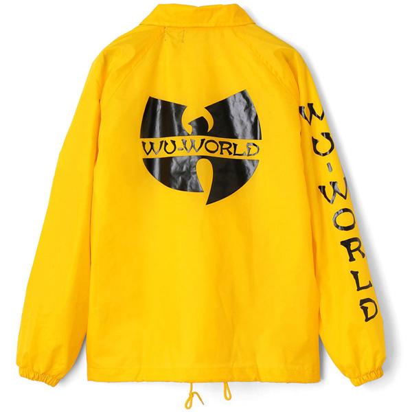 【WU-WORLD(ウータン・クラン)】WU LOGO COACH 2(YELLOW)WU-TANG CLAN RZA RAEKWON GHOST FACE METHOD MAN O.D.B コーチジャケット ストリートファッション BIG サイズ 大きいサイズ B系 HOP HOP