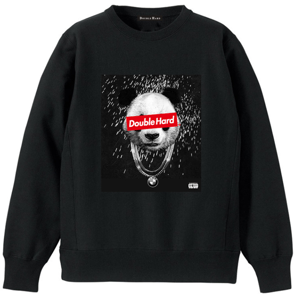 【DOUBLE HARD】(ダブルハード)PANDA CREWNECK SWEAT(BLACK/RED)
