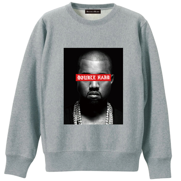 【DOUBLE HARD】(ダブルハード)KW CREWNECK SWEAT(GREY/RED)