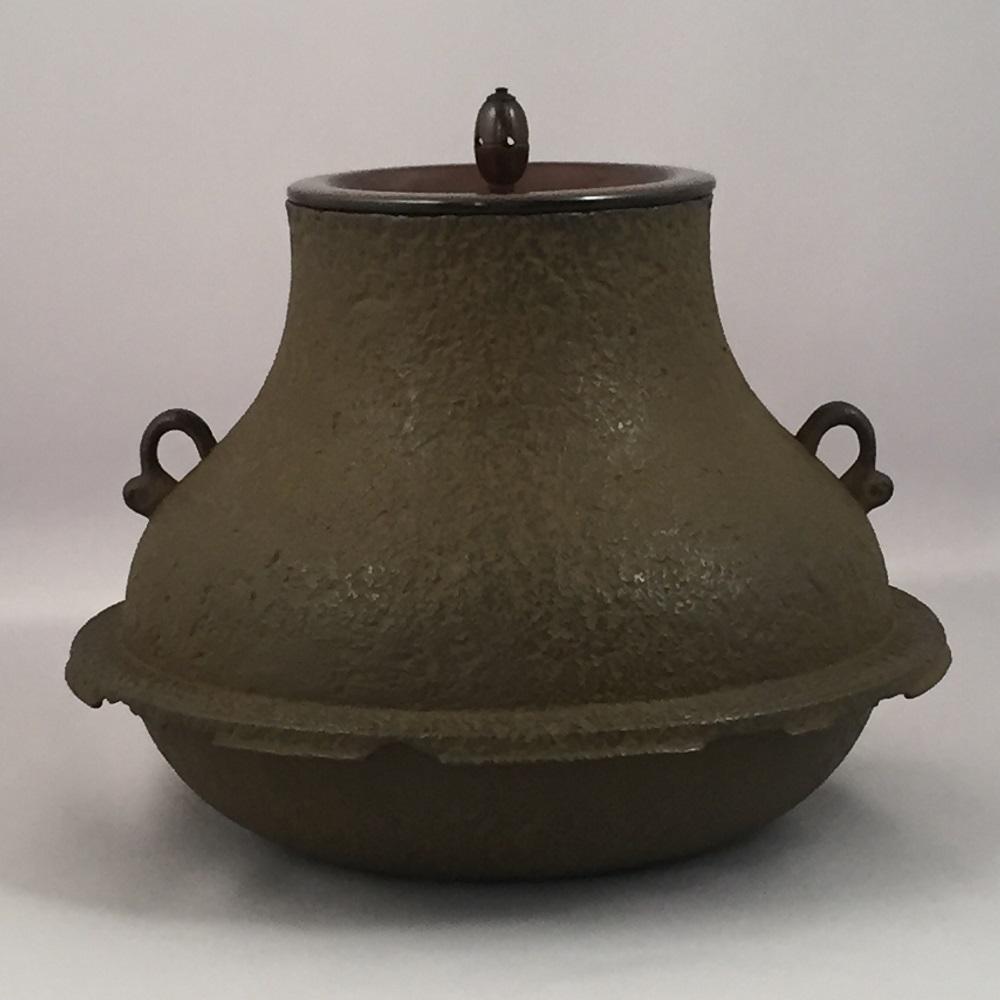 【オンライン作家展】十三代 和田美之助作 鶴首羽釜 風炉用 茶道具