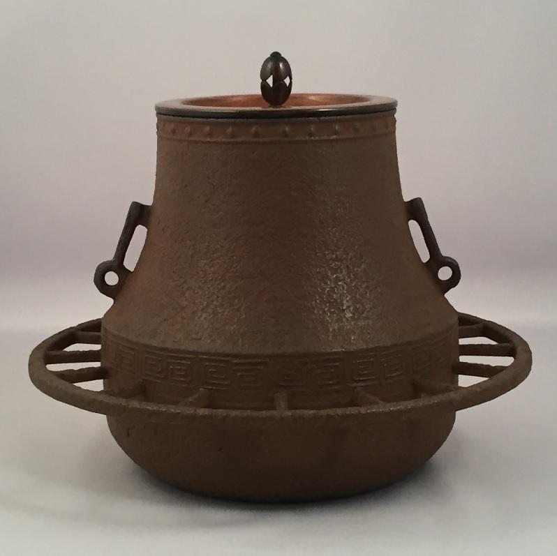 【オンライン作家展】十三代 和田美之助作 車軸釜 風炉用 茶道具