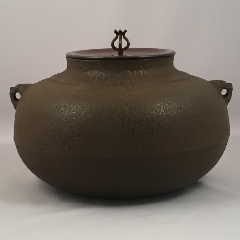 【オンライン作家展】十三代 和田美之助作 繰口平丸釜 炉用 茶道具