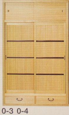 (簡単設置)杉材 置水屋大 0-3柾戸か0-4網代戸