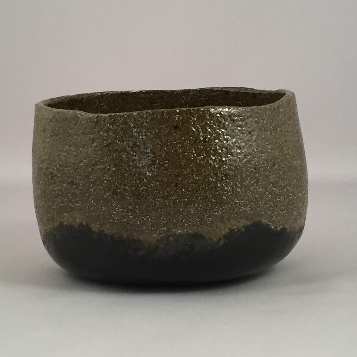 【共箱】三代 佐々木昭楽作 銘「時雨」 光悦写 黒楽茶碗 茶道具