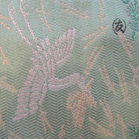 【出帛紗】袋師 土田友湖作 松喰鶴紹巴 出帛紗 正絹 高級茶道具