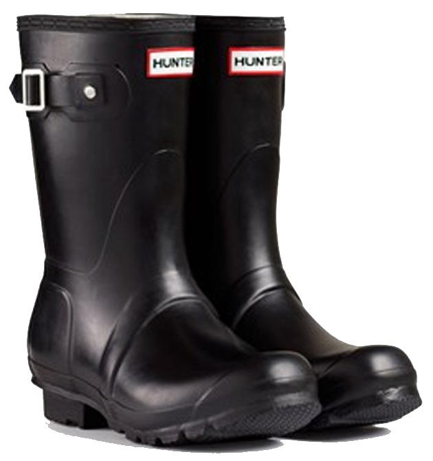 <特別価格!>HUNTER【ハンター】WOMENS ORIGINAL SHORT BLACKオリジナルショート・ブラックレインブーツ ラバーブーツ 長靴